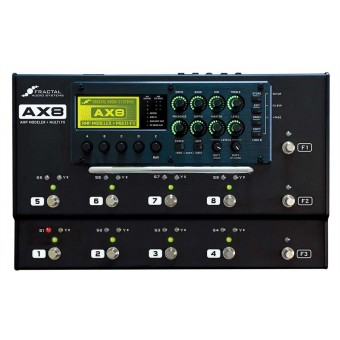 Fractal Audio AX8 Amp Modeler + Multi-Effects Pedalboard